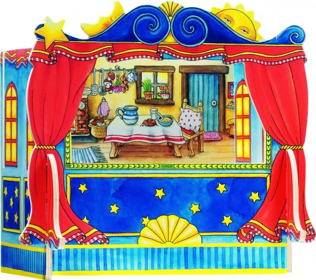 Goki Vingerpoppen Theater Met 5 Decors 28 X 20 X 25 cm