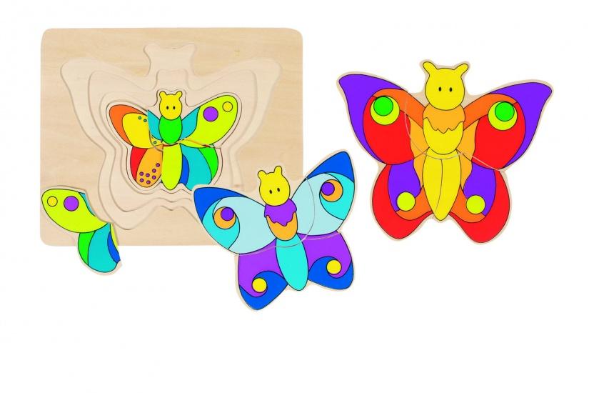Goki Vlinder 4 Lagen Puzzel 11 Delig