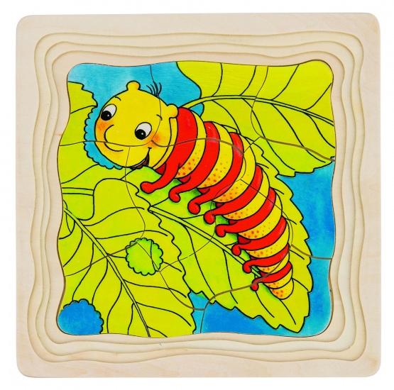 Goki Vlinder 4 Lagen Puzzel 44 Delig