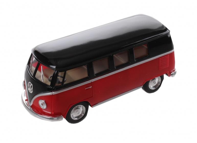 Goki volkswagen classic bus rood zwart 1962 13 cm 104812