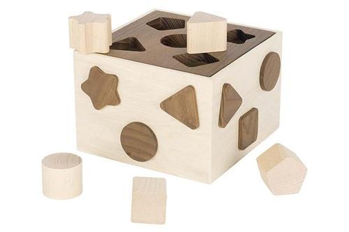 Goki vormenstoof hout 17 x 17 x 10 cm 5 delig
