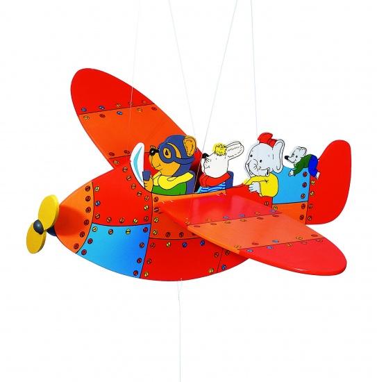 Goki Zweeffiguur Vliegtuig 54 cm