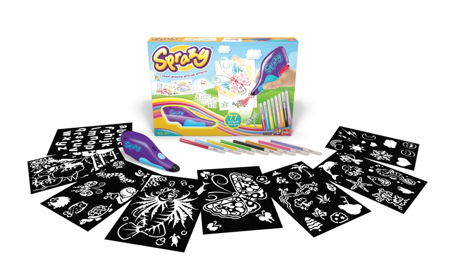 goliath sprazy airbrushset magic safari 17piece
