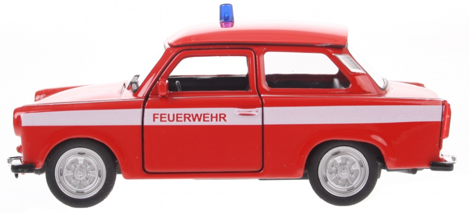 Goki brandweer Trabant 601 rood 11 cm