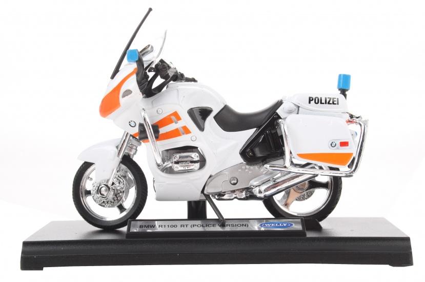 Goki motor politie wit/oranje 13 cm