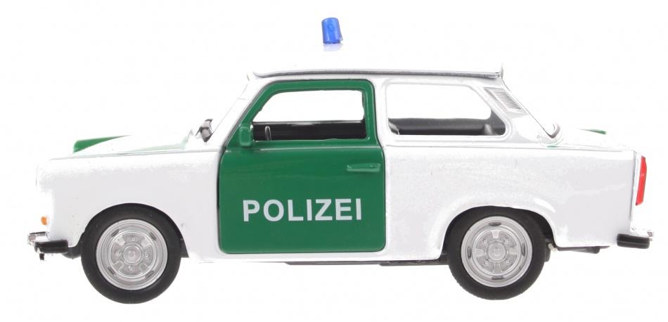 Goki politie Trabant 601 wit/groen 11 cm