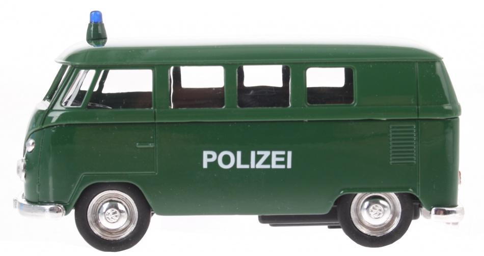 Goki Politie Volkswagen Classical bus (1962) groen 12 cm