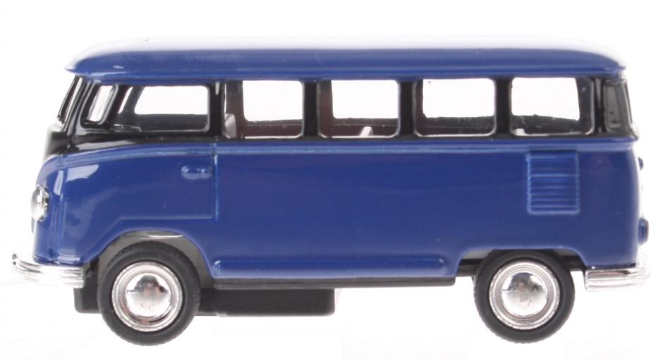 Goki Volkswagen Classical bus (1962) blauw 6,5 cm