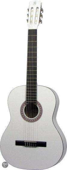 Gomez 001 4-4-model klassieke gitaar wit