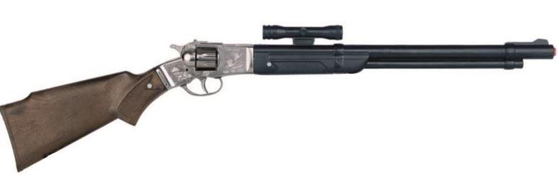 Gonher Speelgoed geweer met vizier cowboy 8 schots zilver