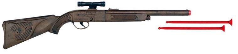 Gonher Speelgoed geweer met vizier en 2 pijlen bruin