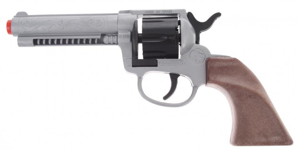 Gonher Speelgoed revolver cowboy 8 schots grijs / zwart