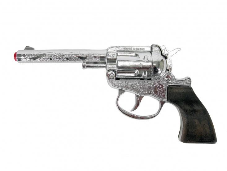 Gonher Speelgoed revolver cowboy 100 schots zilver