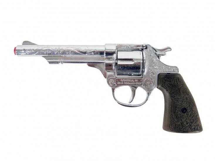 Gonher Speelgoed revolver cowboy 8 schots zilver
