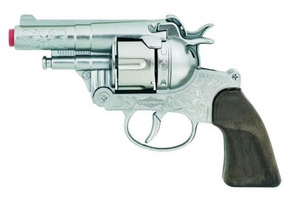 Gonher Speelgoed revolver politie 12 schots zilver