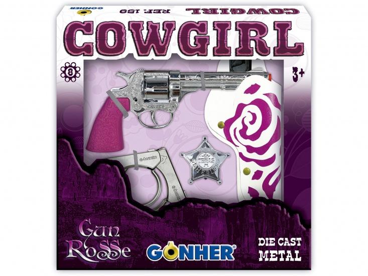 Gonher Speelset Cowgirl 4 delig