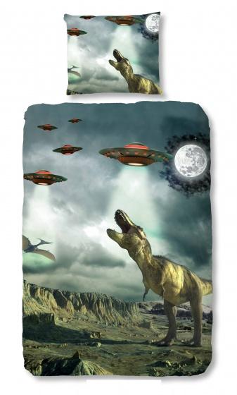 Good Morning dekbedovertrek DinoWorld 140 x 200/220 cm kopen