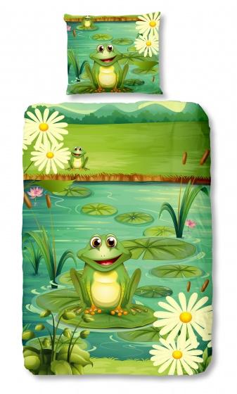 Good Morning dekbedovertrek Kikker 140 x 200/220 cm groen