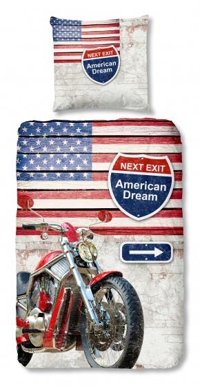Good Morning dekbedovertrek Motorcycle 135 x 200 cm