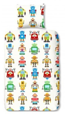 Good Morning dekbedovertrek robots 140 x 200/220 cm