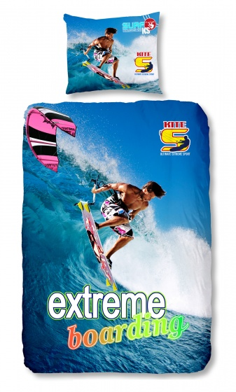 Good Morning dekbedovertrek Surf 140 x 200/220 cm blauw