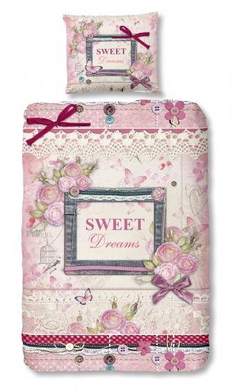 Good Morning dekbedovertrek Sweet Dreams 140 x 200/220 cm roze