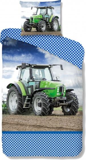 Good Morning dekbedovertrek Tractor 140 x 200/220 cm groen