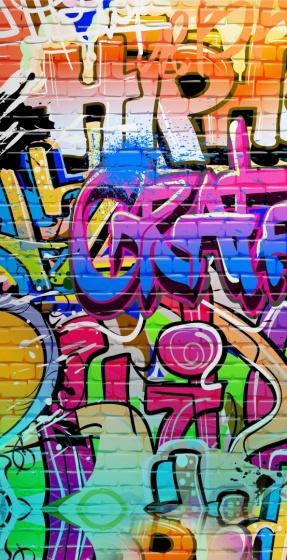 Good Morning strandlaken Graffiti 75 x 150 cm multicolor kopen