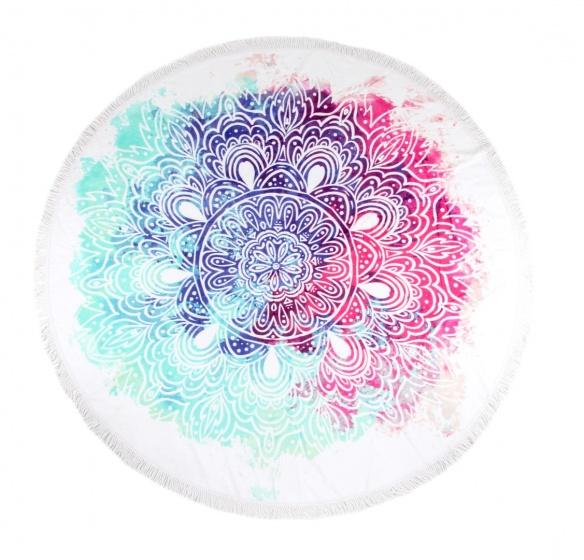 Hip strandlaken Terza 160 cm roze/turquoise kopen
