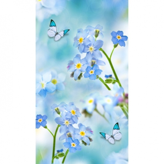 Good Morning strandlaken Symphaty 100 x 180 cm blauw kopen
