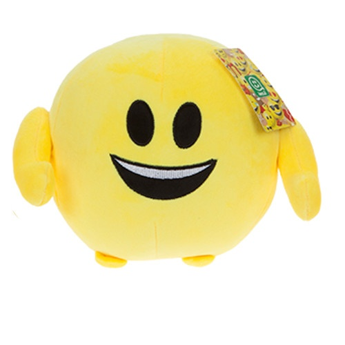 Kamparo knuffel Imoji Ball Big Smile 18 cm pluche geel