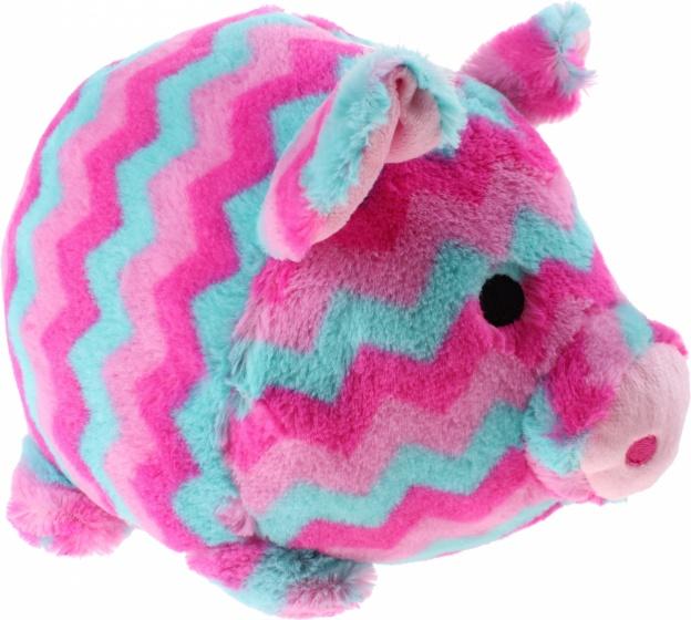 Gosh! Designs spaarvarkenknuffel roze/blauw 35 cm