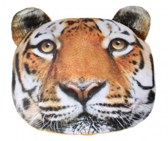 Kamparo kussen tijgerkop bruin 37 cm
