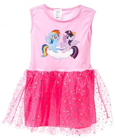 Kamparo tutu jurk My Little Pony meisjes roze/donkerroze one size