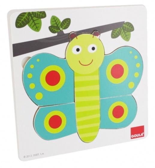 Goula inlegpuzzel vlinder 8 stukjes