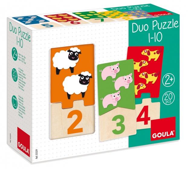 Goula leerpuzzel tellen 1 10 20 stukjes