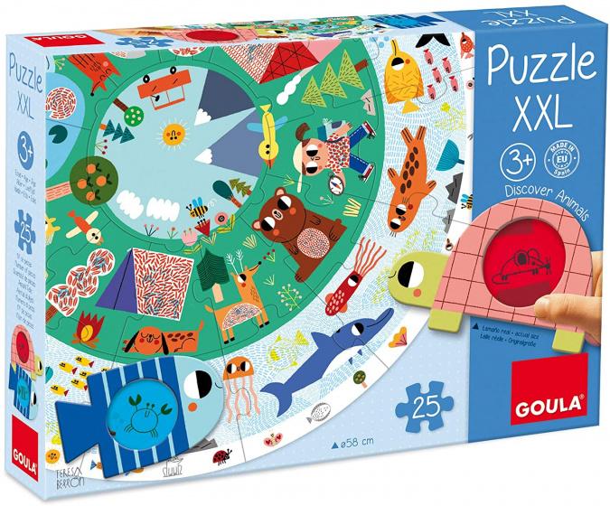 Goula legpuzzel dieren XXL junior karton 27 delig