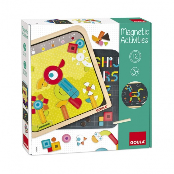 Goula Magnetic Activities magneetbord 29 x 29 cm 128 delig