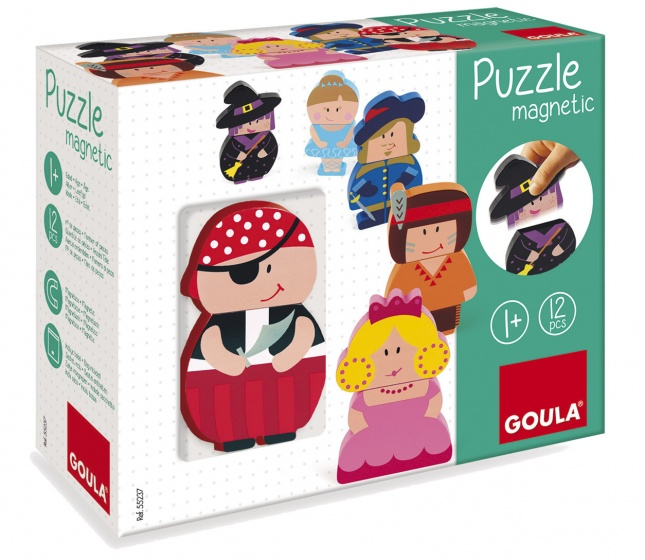 Goula magnetische legpuzzel personages 12 stukjes