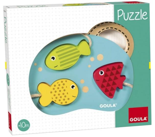 Goula Mijn eerste puzzel visjes hout 3 stukjes