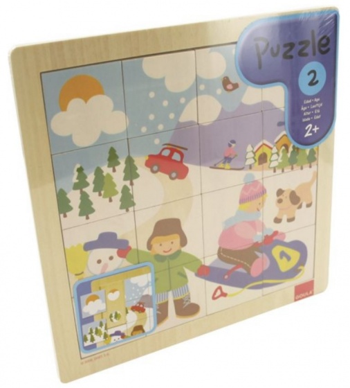 Goula puzzel winter hout 16 stukjes
