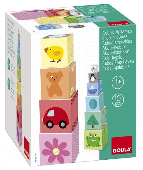 Goula stapelblokken 1 10 karton 10 delig