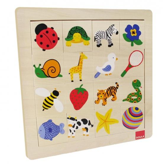 Goula Texturen puzzel 16 stukjes
