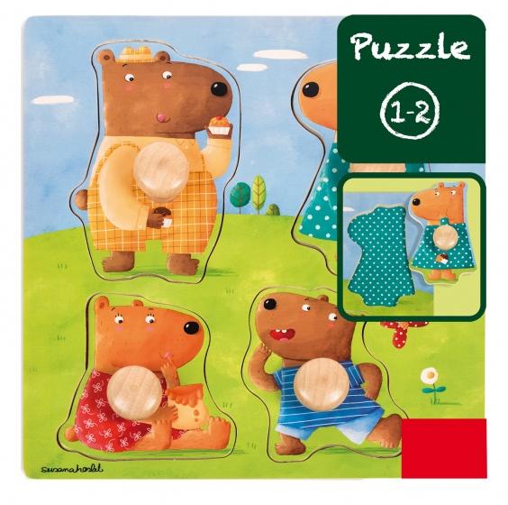 Goula vormenpuzzel berenfamilie 4 stukjes