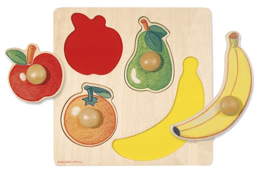 Goula vormenpuzzel fruit 4 stukjes