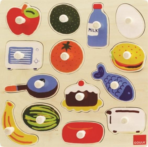 Goula vormenpuzzel in de keuken 14 stukjes