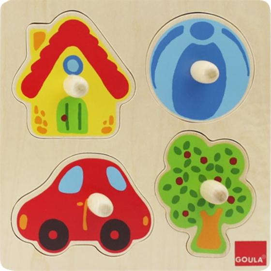 Goula vormenpuzzel kleuren 4 stukjes