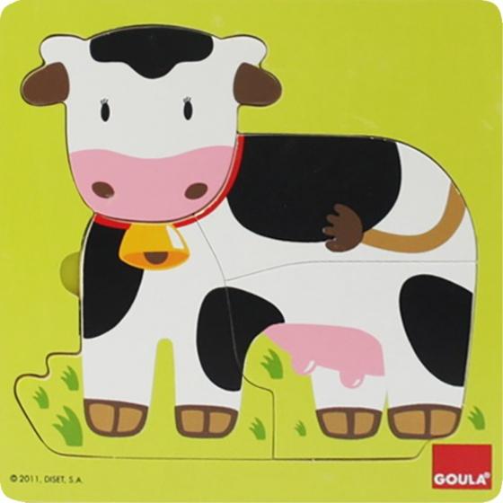 Goula vormenpuzzel koe 7 stukjes