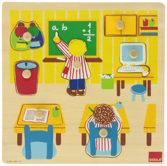 Goula vormenpuzzel op school 7 stukjes