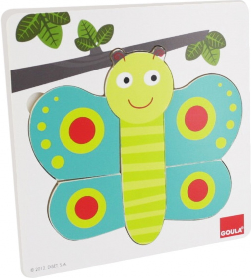 Inlegpuzzel Vlinder